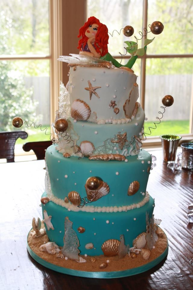 mermaid cake kat shower mermaid shower bridal shower little mermaid