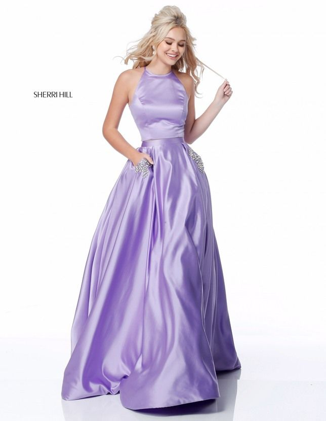 b0f085389aa Lavender Purple Satin Prom Dress