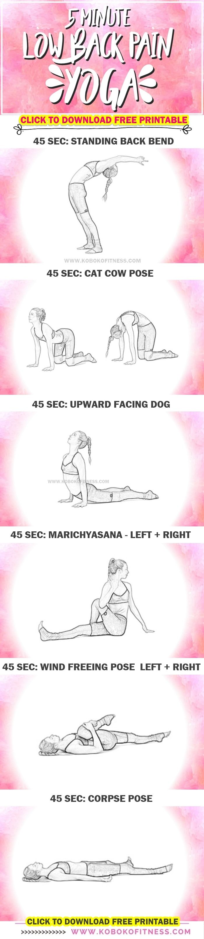You discovered the low back pain yoga workout! Yoga for low back pain is an easy way to soothe your back at home. Beginner friendly. No equipment needed