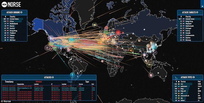 La carte mondiale des cyber-attaques en temps réel