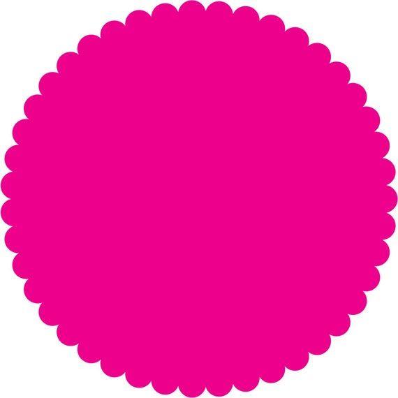 26 Scalloped Circle Digital Clip Art Scalloped Tags Digital Etsy In 2021 Digital Clip Art Flower Stationary Clip Art