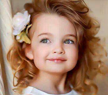 Pretty hair pretty little girl