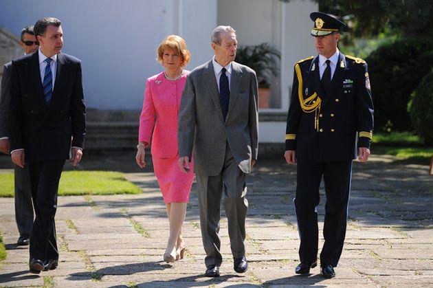 King Michael of Romania, princess Margaret and Radu Duda