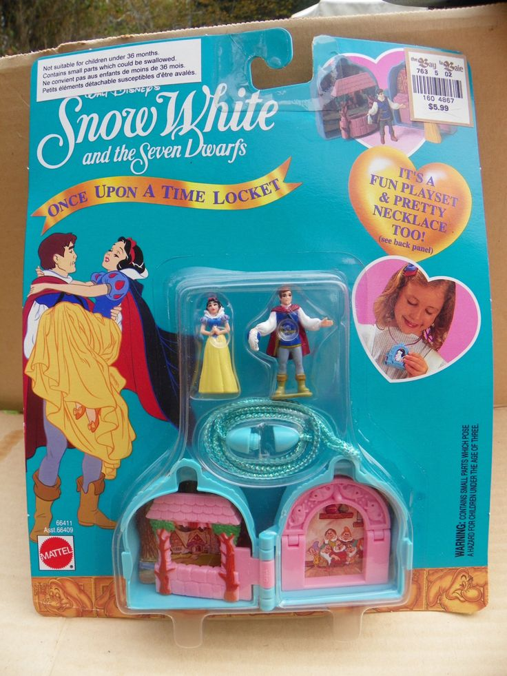 Mattel Once Upon A Time Locket #66411 - Snow White Playset Necklace - Polly Pocket Style - Disney Snow White and the Seven Dwarfs  Arcotoys by ShersBears on Etsy