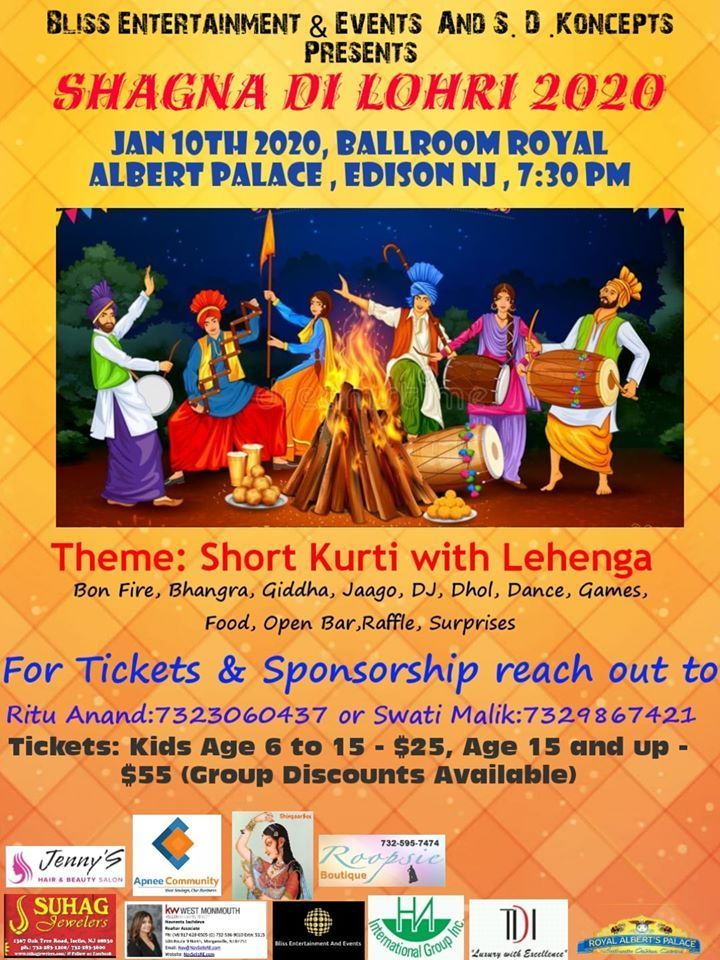 Shagna Di Lohri 2020 In Edison New Jersey In 2020 New Jersey Event Things To Do