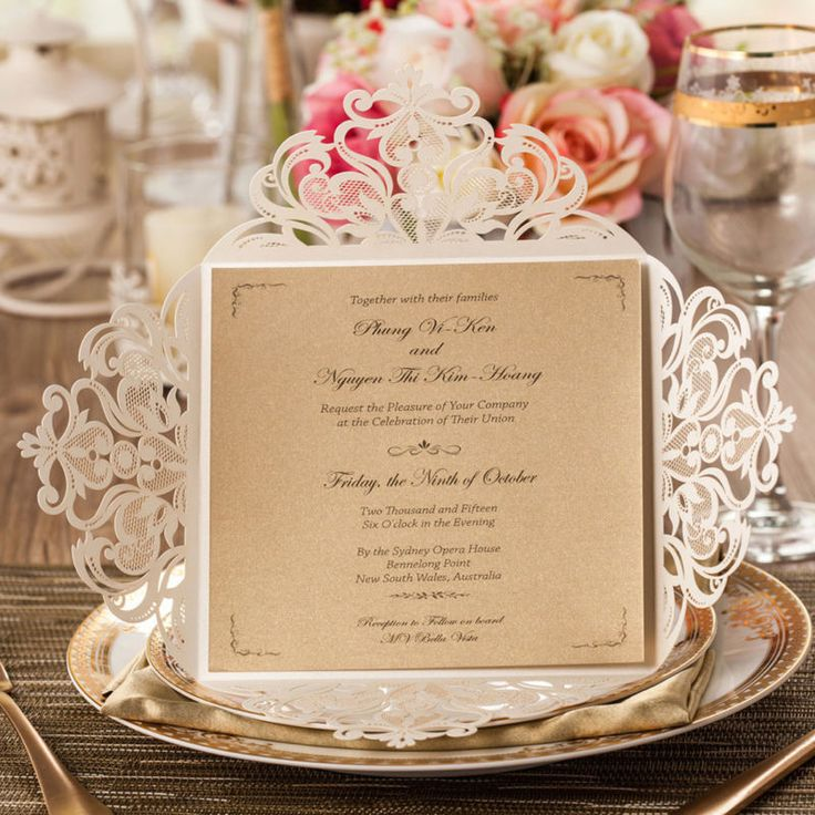 laser cut wedding invites canada%0A    White Square Laser Cut Wedding Invitation Cards Blank Kit  Envelopes   Seals