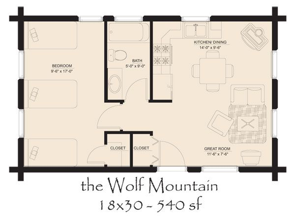 Small Log Cabin Floor Plans | Unique Features of Cabins and Log Cabins ...