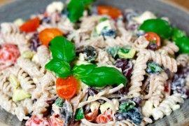 Gresk pastasalat med Fetaost og oliven