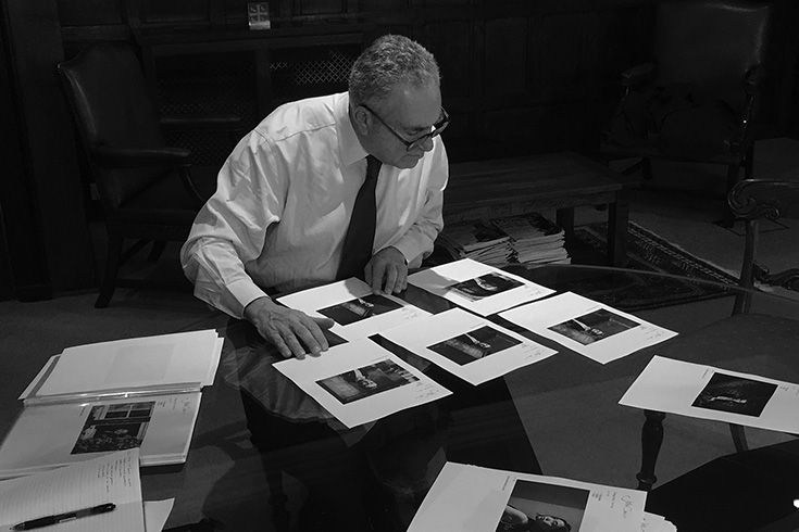 Sir Ivor Crewe reviews the first-stage proofs from photographer John Cairns.