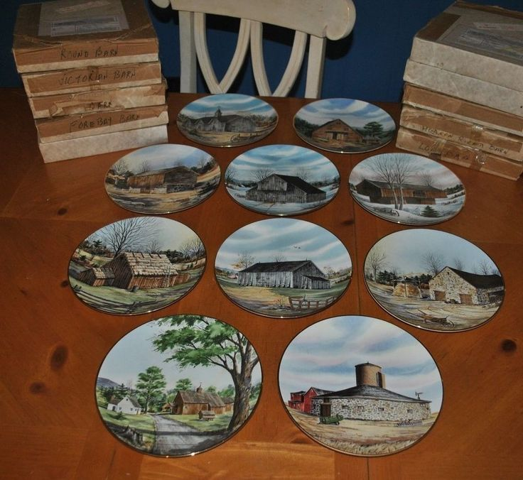 LARGE COLLECTION OF THE VANISHING AMERICAN BARN PLATES 10 TOTAL FRANCISCAN 1983 & 7 best country plates images on Pinterest | Country Dinner plates ...