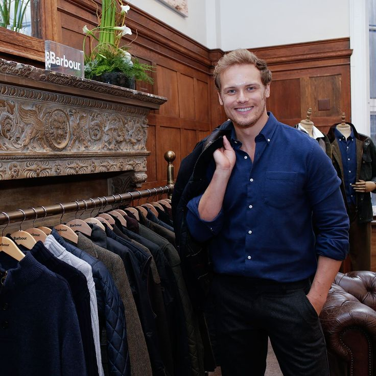 NEW Pics of Sam Heughan at his Barbour Collection Launch | Outlander Online