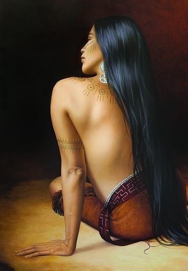 """Mississippian Ink""  by Cherokee Artist Sharon Irla"