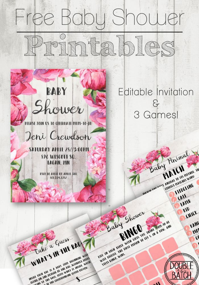 Free Baby Shower Printables | Free baby shower printables, Baby ...