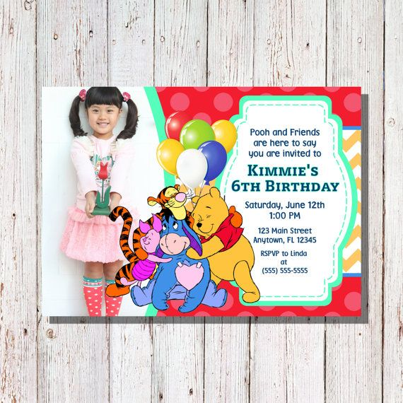 Check out this item in my Etsy shop https://www.etsy.com/listing/242575110/winnie-the-pooh-birthday-invitation-pooh