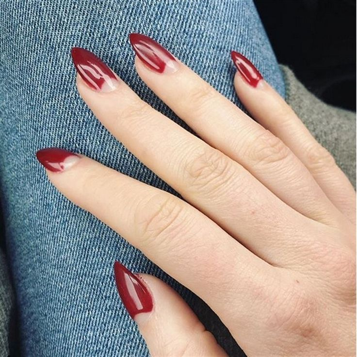 Top 30 Extremely Cute Half Moon Nail Art You Must Try Moon Nails Moon Manicure Half Moon Nails