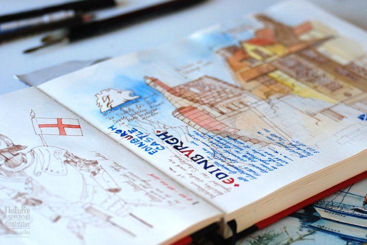 Странички дорожного блокнота из путешествия по Англии и Шотландии