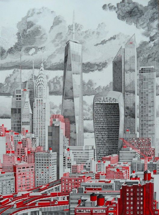 Architectural drawings - The Happiness Machine: The Detailed Drawings of Mark Lascelles Thornton