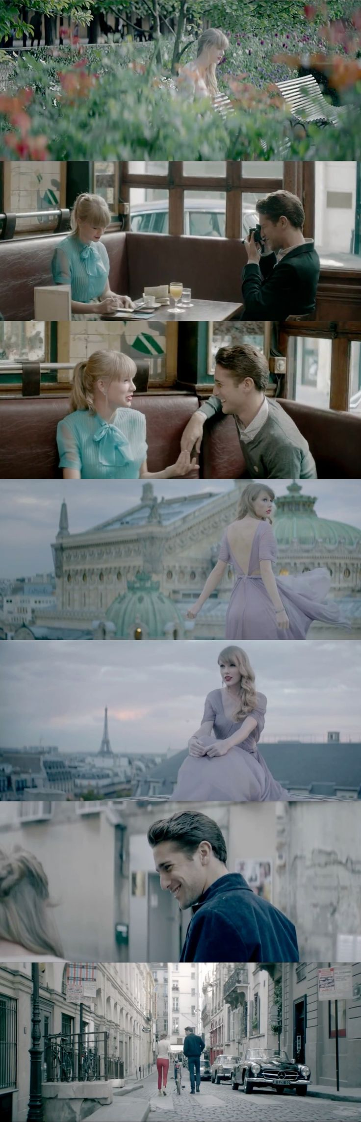 "stills from taylor swifts ""begin again"" video     Can I live in Europe and this be my life?"