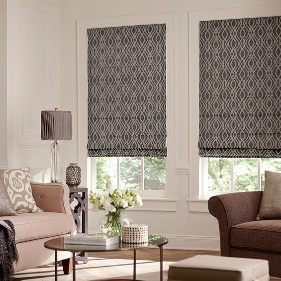 classic roman shade shown in brant pewter with the cordless option - Cordless Roman Shades