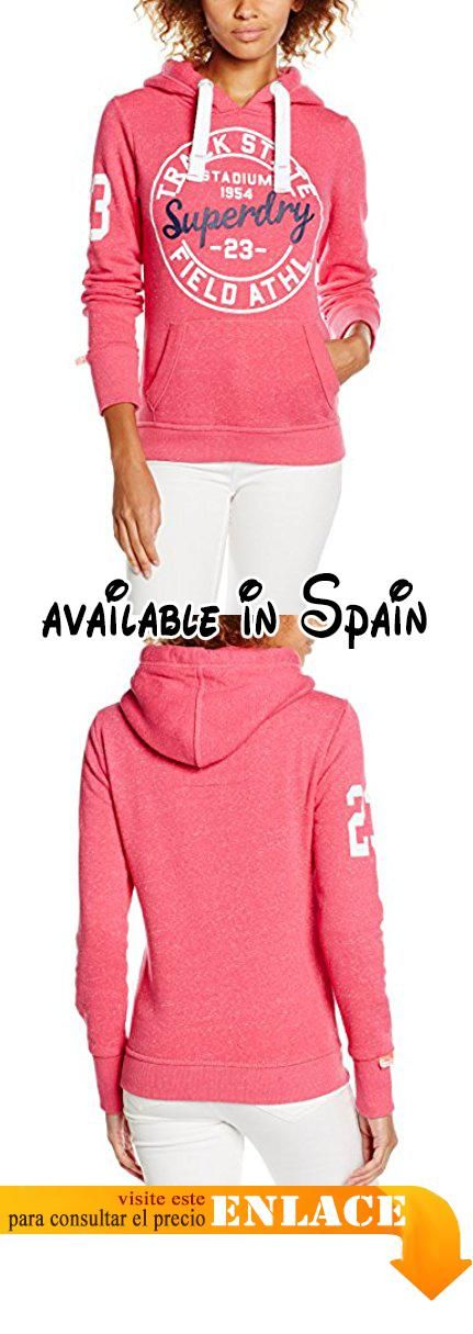 SUPERDRY Track & Field Hood, Ropa Interior de Deporte para Mujer, Rosa (Chick Pink Snowyyea), XS.  #Ropa #SWEATER