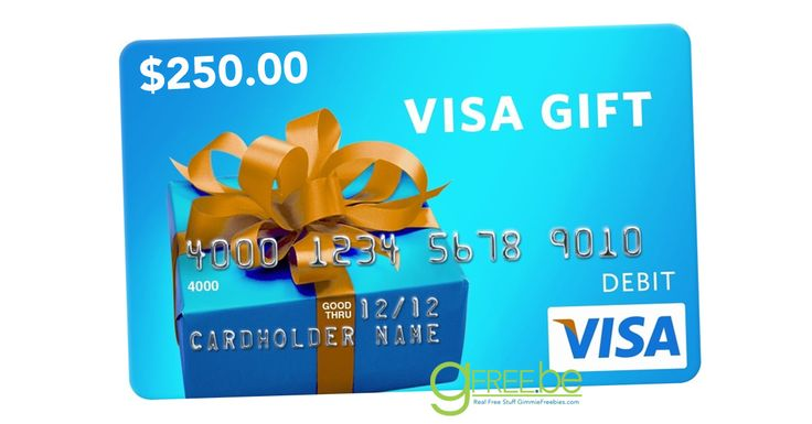 Free 250 visa gift card with signup today only