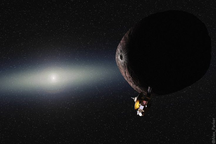 NASA's New Horizons spacecraft passed the halfway milestone between Pluto and its second flyby target, KBO 2014 MU69, at midnight UTC on Monday, April 3.