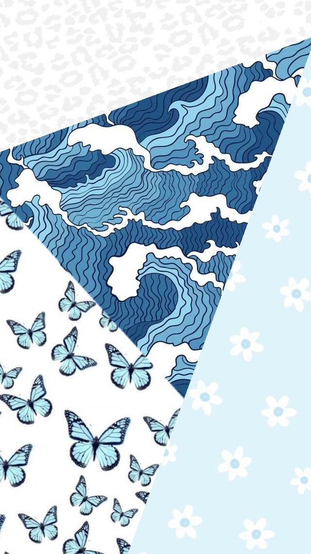 Blue Butterfly Flowery Waves Cheetah Print Wallpaper Fondos De Pantalla De Iphone Fondos De Pantalla Iphone Tumblr Ideas De Fondos De Pantalla Blue wave wallpaper vsco