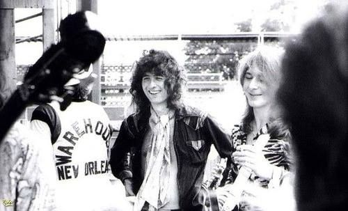 Jimmy Page and Mick Ralphs