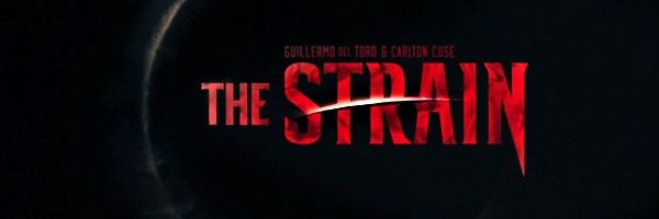 "The Strain: Episode #1 - Night Zero  ""The Beast is 9ft tall, cloaked, nasty, has a 2ft long tongue/stinger, monster hands meant for smashing bone, and can move faster than you could ever hope to react."""