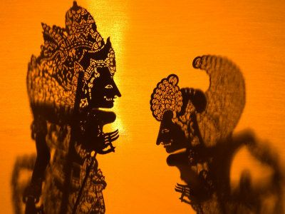 Theatre Display of Balinese Shadow Puppets