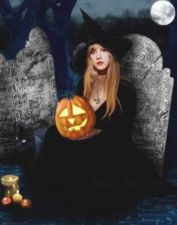 "an interesting Stevie photo edit for Halloween ~  ""Time cast its spell on you…"