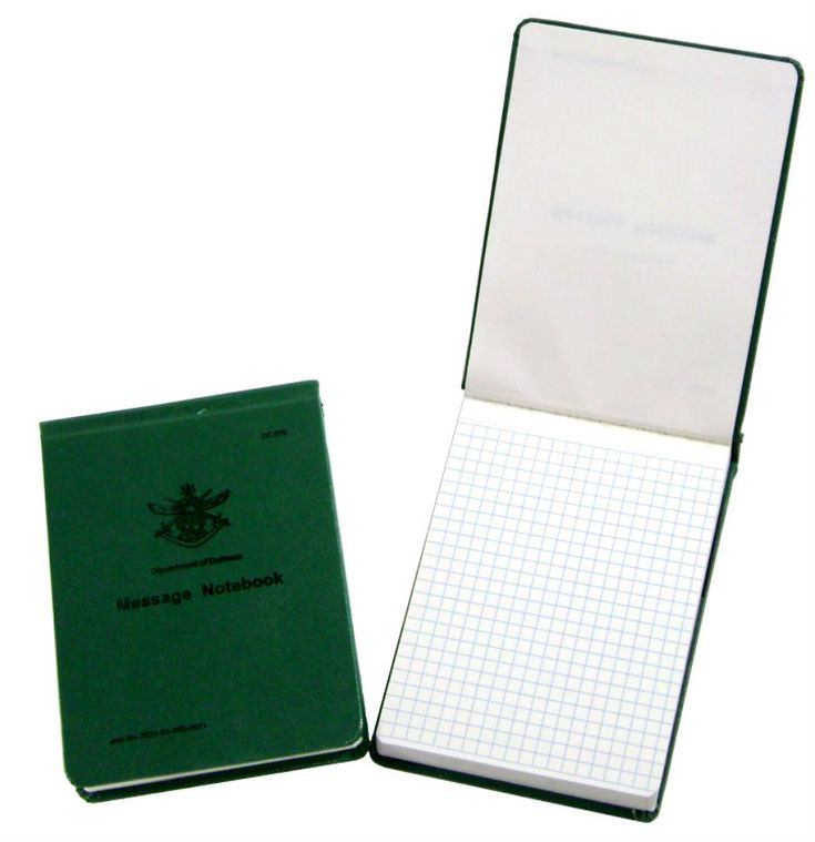 Defence Gifts - AUSTRALIAN ARMY  FIELD MESSAGE NOTEBOOK, $11.95 (http://www.defencegifts.com.au/australian-army-field-message-notebook/)