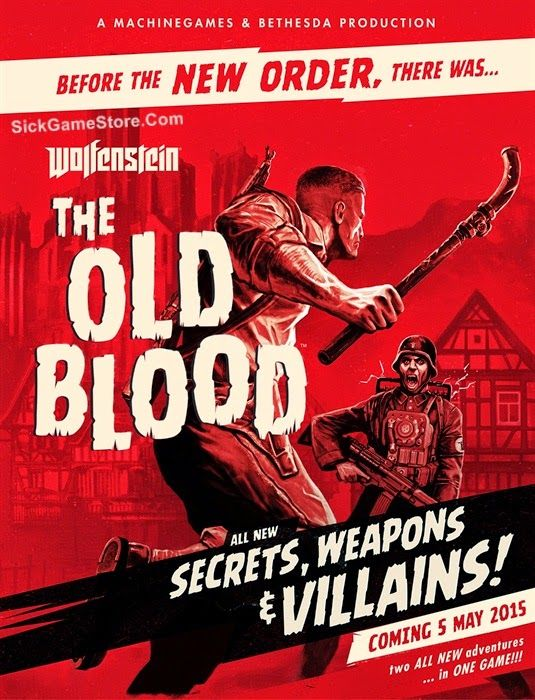 First person shooter action game Wolfenstrin the Old Blood!! $19.99  http://www.sickgamestore.com/2015/05/wolfenstein-the-old-blood.html  #games #videogames