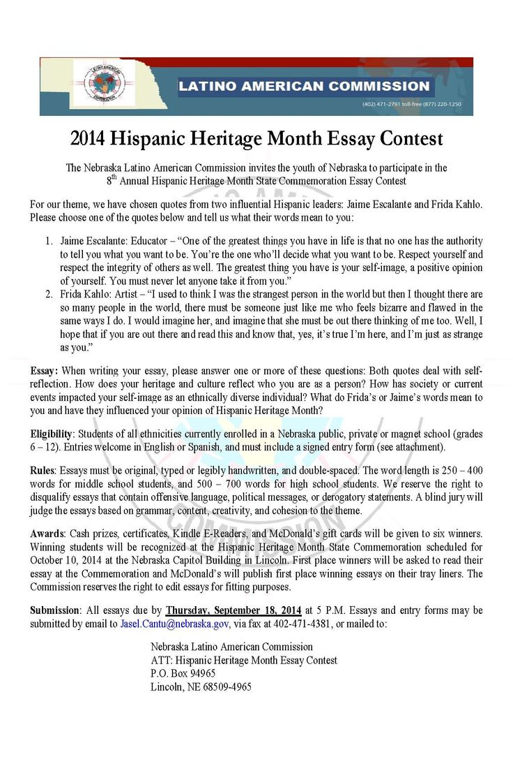 best images about hispanic heritage month 2014 hispanic heritage month essay contest guidelines open to all students in nebraska