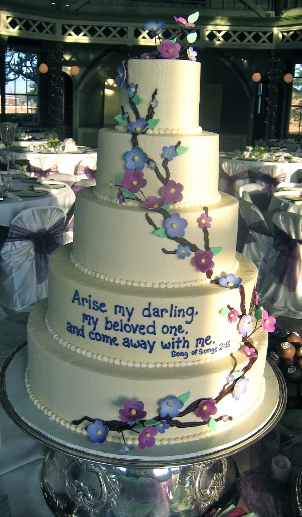 the cake is ugly...but the verse..and that its actually on a cake is very oh so nice