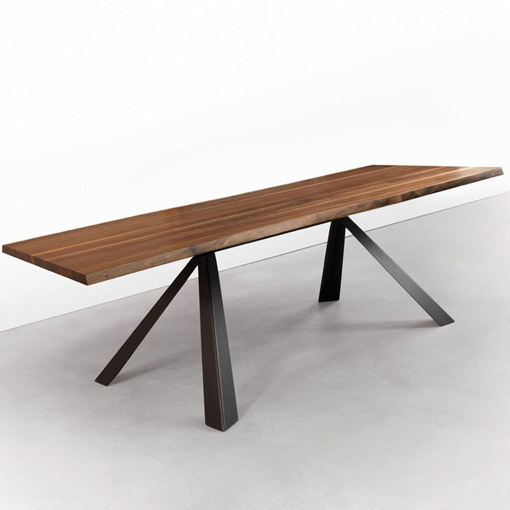 Dining Room Table Bases Wood: Velocity Solid Walnut Dining Table, Metal Trestle Base