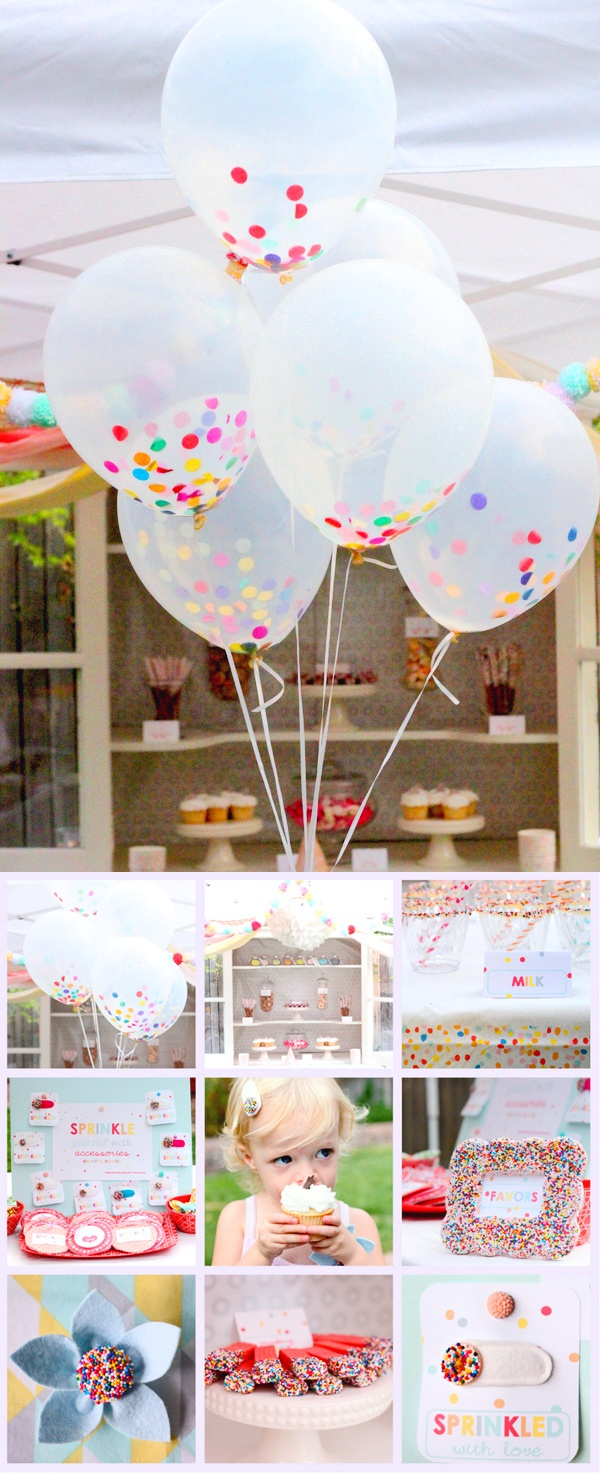 u0027Sprinkleu0027 theme party I LOVE these balloons