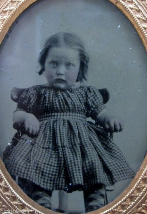 Vintage Ruby Red Ambrotype Cute Toddler 1 9th Plate Red Cheeks | eBay