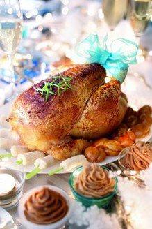 Pourquoi faire compliqué si on peut faire simple et bon ? Grâce à sa taille, la dinde de Noël farcie permet de nourrir une grande tablée. Et tout le monde l'aime : les petits comme les grands !