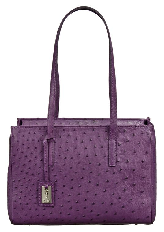 Khari Bag Boston / Material Ostrich Leather Bag / Dimensions: w19 x h21 x d2