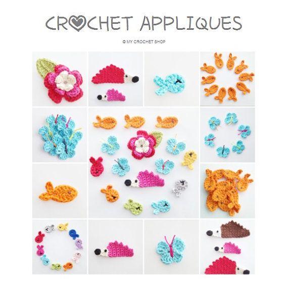 Crochet Appliques Ebook PDF  English US by annemariesbreiblog, €2.50