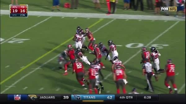 3rd & 19? Call Jameis Winston.  Scramble. Break 10 tackles.  Just how the Tampa Bay Buccaneers drew it up! #tbt #ATLvsTB