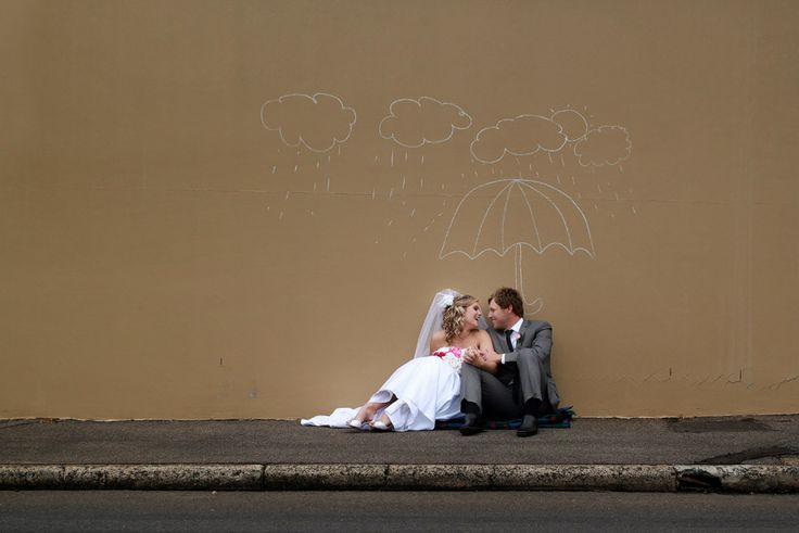 Bride & Groom + Chalk drawing