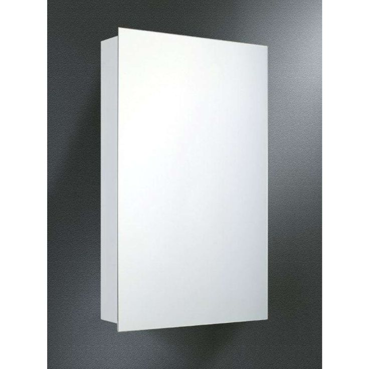 "Builders Grade White Baked Enamel 26"" Surface Mount Medicine Cabinet with Polished Edge Mirror"