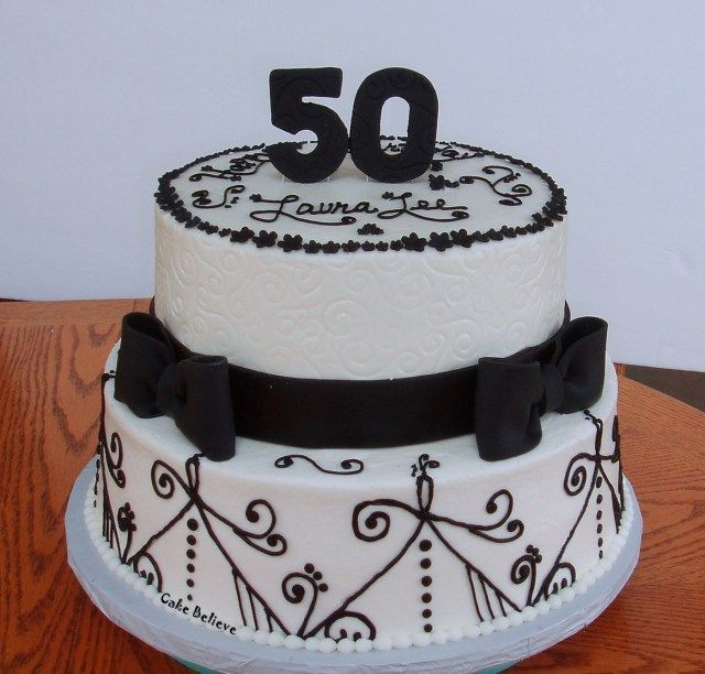 Miraculous 30 Wonderful Picture Of 50Th Birthday Cakes With Images 50Th Funny Birthday Cards Online Benoljebrpdamsfinfo