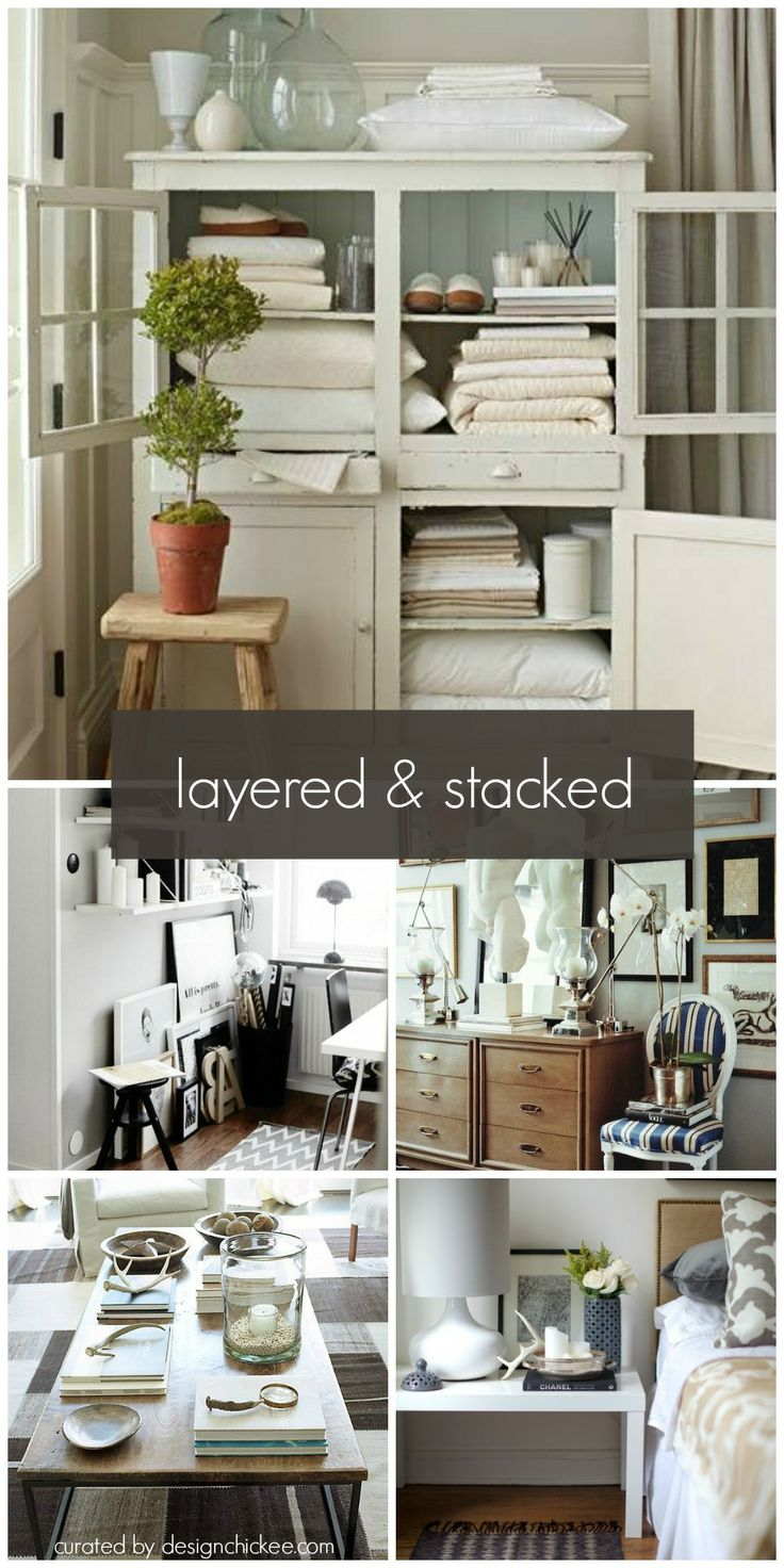 DESIGNCHICKEE BLOG   layered & stacked decorating trend