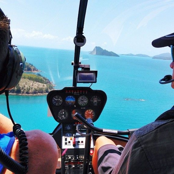 Doing Whitsundays – Oprah style. #instagram photo: @nicholasalexander #hamiltonislandinstameet #whitsundays #helicopter