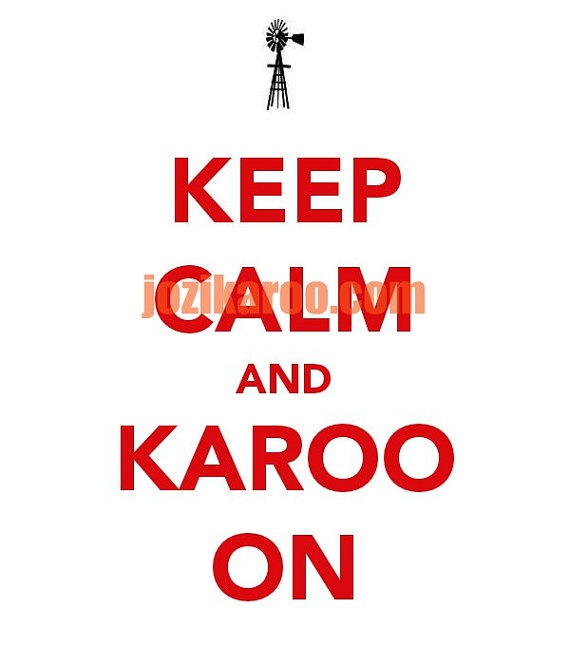 I made this postcard as a joke for South Africans -- the Karoo is the calmest place in the world!