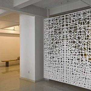 laser cut screen suspended with high tensile wire