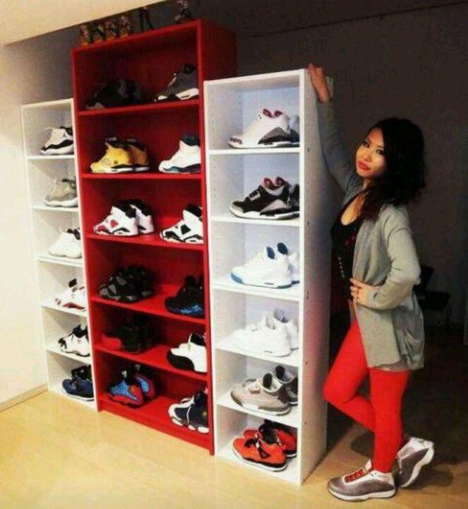 this is a good idea for all my shoes might go buy me some bookshelves..aha